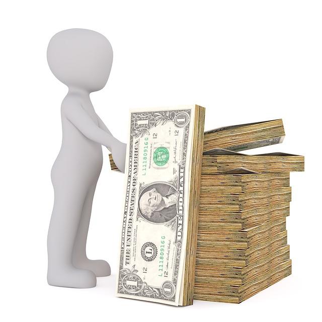 panáček, balíčky peněz
