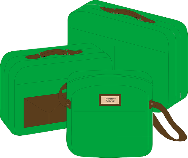 zelená zavazadla