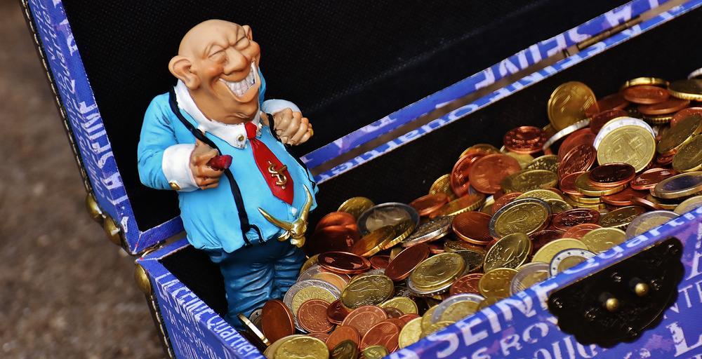boháč a mince